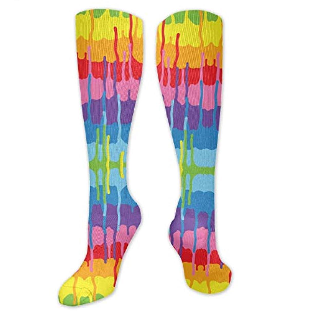 虹奨励します支店靴下,ストッキング,野生のジョーカー,実際,秋の本質,冬必須,サマーウェア&RBXAA Rainbow Paint Socks Women's Winter Cotton Long Tube Socks Cotton Solid...