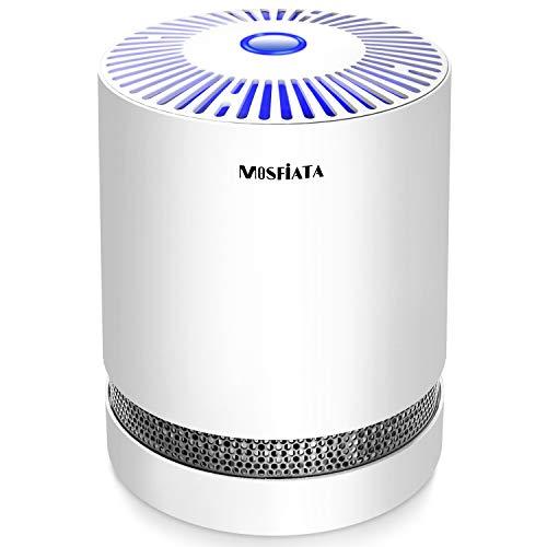MOSFiATA 空気清浄機 脱臭 集塵 花粉 小型 卓上 空気清浄器 タバコ PM2.5 対策 12畳対応 3段階風量 ナイトナイト付 省エネ 静音 除菌 HEPA/活性炭フィルター搭載 日本語説明書 一年保証付き