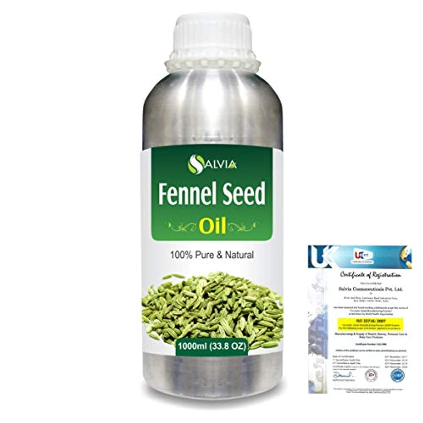 世界の窓小包ナビゲーションFennel Seed 100% Natural Pure Essential Oil 1000ml/33.8fl.oz.
