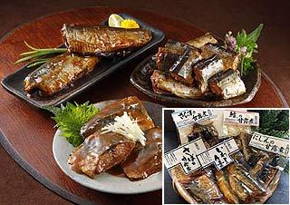 【海産物珍味の老舗】甘露煮5袋セット (たら、さばの味噌煮、にしん、さんま、いわし生姜煮)【産地おが和】