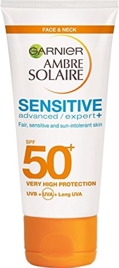 大騒ぎスポンジ名前Garnier Ambre Solaire 敏感肌のための高度な日焼け止め  SPF50+  50ml*3個入 [並行輸入品]