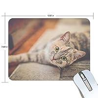 Jiemeil マウスパッド 高級感 おしゃれ 滑り止め PC かっこいい かわいい プレゼント ラップトップ MacBook pro/DELL/HP/SAMSUNG などに 動物 猫 可愛い