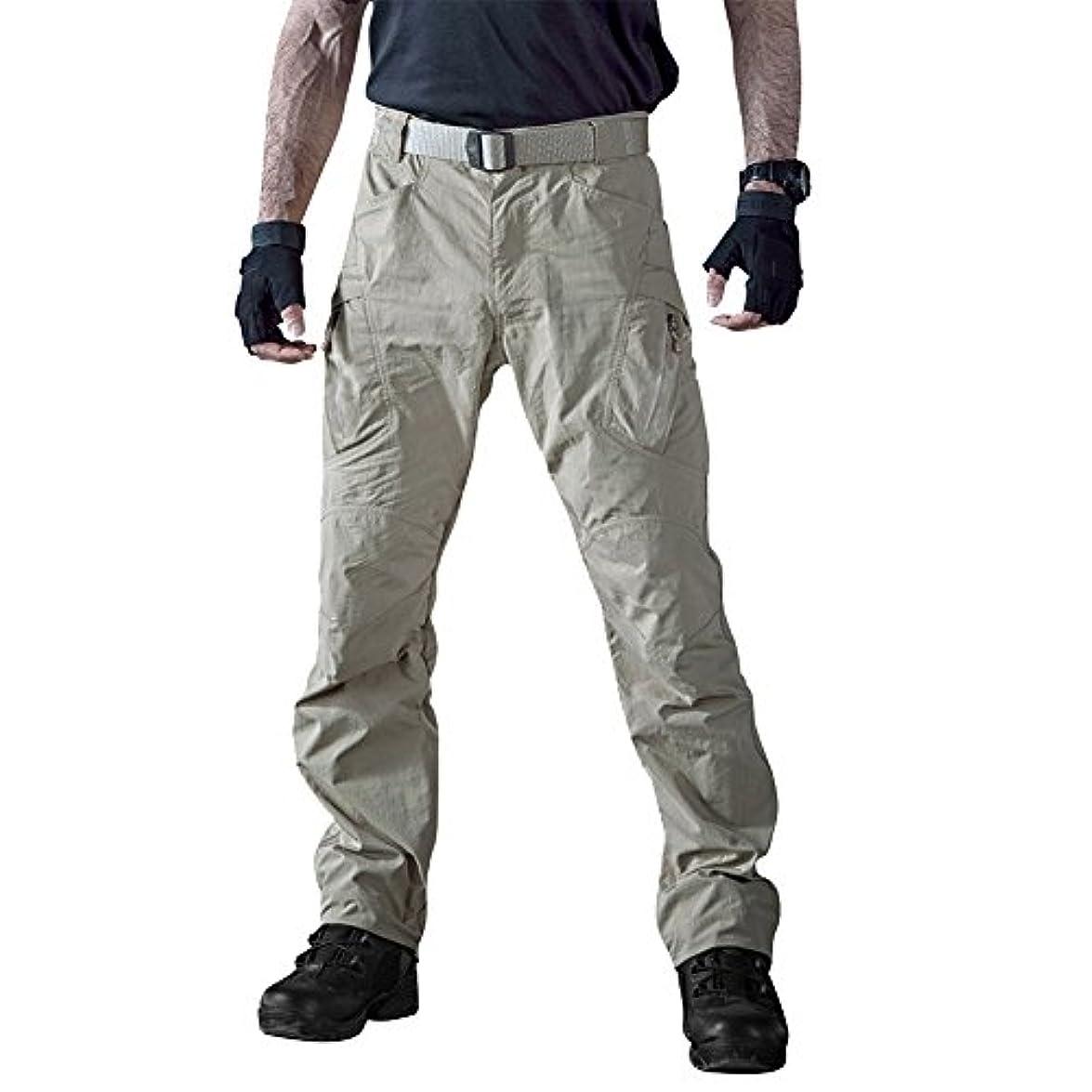 変形するいろいろデンマークTACVASEN カーゴストレッチパンツ メンズ アウトドア 速乾 撥水 UV保護