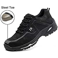 Safety Shoes, Steel Toe Cap Trainers Lightweight Mens Womens Safety Shoes Work Midsole Protection,44/EU