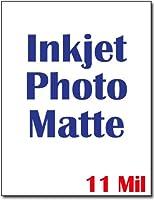 インクジェットフォトマットカードストック–Heavyweight 11Mil–100シート
