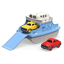 Green Toys Ferry Boat Bathtub Toy with 2 Mini Cars - Green/White