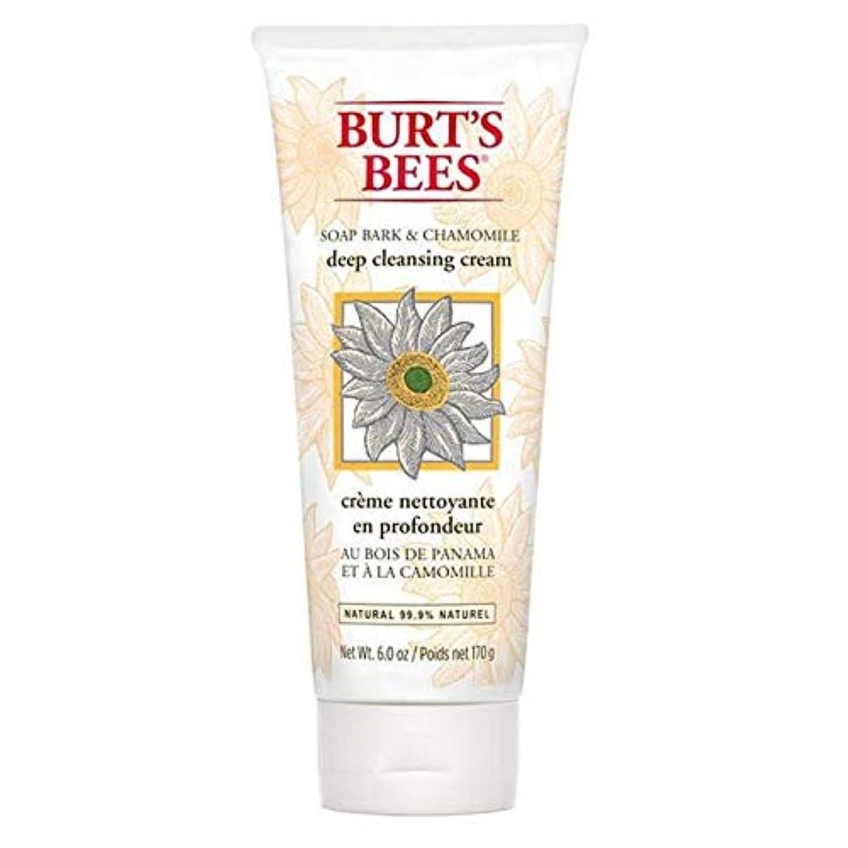 まで気をつけて貪欲[Burt's Bees ] バーツビー石鹸樹皮&カモミールディープクレンジングクリーム170グラム - Burt's Bees Soap Bark & Chamomile Deep Cleansing Cream 170g...