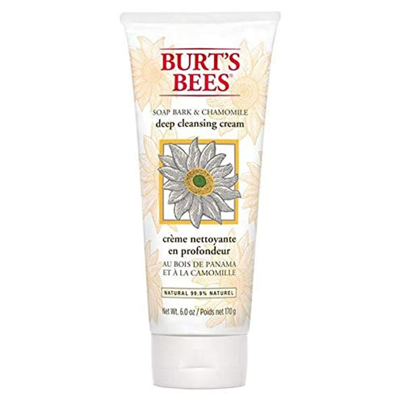 警官狼タイピスト[Burt's Bees ] バーツビー石鹸樹皮&カモミールディープクレンジングクリーム170グラム - Burt's Bees Soap Bark & Chamomile Deep Cleansing Cream 170g...