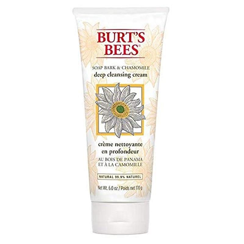 落とし穴ビール妥協[Burt's Bees ] バーツビー石鹸樹皮&カモミールディープクレンジングクリーム170グラム - Burt's Bees Soap Bark & Chamomile Deep Cleansing Cream 170g...