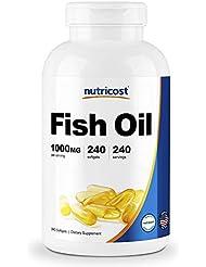Nutricost 魚油オメガ3 1000mg(オメガ3の600mg)、240ソフトジェル - 非GMO、グルテンフリー