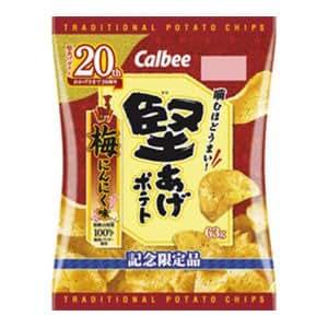 カルビー 堅あげポテト 梅にんにく味 63g ×12袋