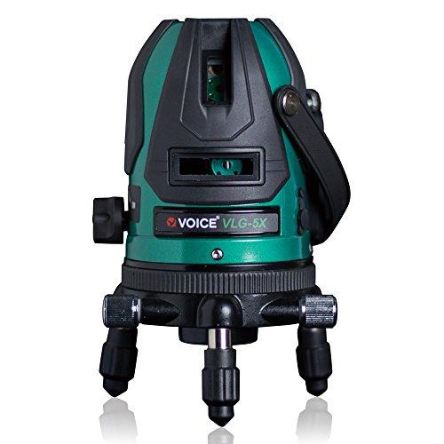 VOICE 5ライン グリーンレーザー墨出し器 VLG-5X メーカー1年保証 4方向大矩照射モデル【標準セット】
