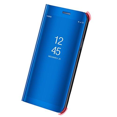 Huawei P10 Plus Case, Translucent Window View Flip Wallet Stand