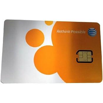 アメリカ AT&T Nano SIM (SIMカードのみ)