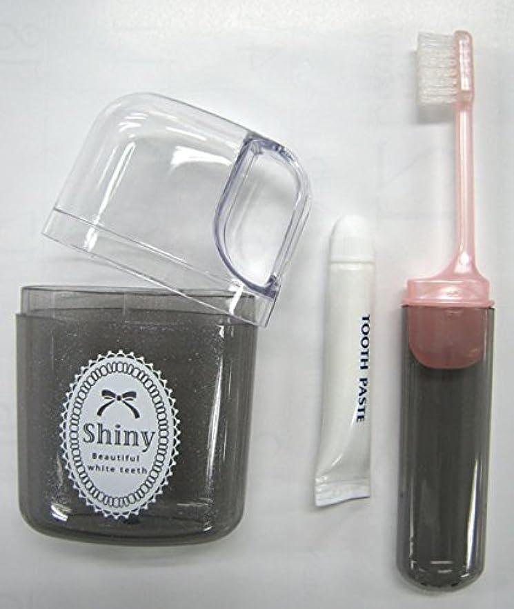 実用的テクトニック近傍Shiny(シャイニー)コップハブラシセット 歯磨き粉付き