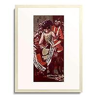 マックス・ベックマン 「Mardi Gras (Shrove Tuesday) in Paris. 1930.」 額装アート作品
