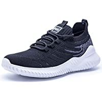 Akk Womens Athletic Walking Shoes - Memory Foam Lightweight Tennis Sports Shoes Gym Jogging Slip On Running Sneakers