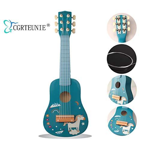 CGRTEUNIEクラシックのもと音の楽器の6弦の54CMは高いはの手製で木製のギターのウクレレの音楽の楽器の音楽の教育のおもちゃを磨き上げて子供の初心者の指練習に適合します