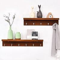 浮遊式棚 コートラック壁掛け木製ハンガーシンプルなモダンな衣類ラック壁掛け寝室ポーチハンガー 工業用壁フレーム (色 : C)