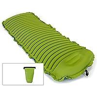 インフレータブルキャンプマット、屋外エアマットレス快適な空気細胞のデザインキャンプ睡眠パッド