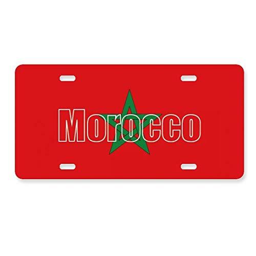 FerryLife モロッコ国旗 ネームナンバープレート カ...