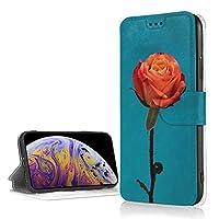 バラ IPhone XR ケース 手帳型 アイフォンXR ケース スマホケース マグネット 耐衝撃 カード収納 Qi充電対応 横置き機能 スタンド機能 PUレザー カバー