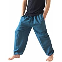 Love Quality Baggy Pants Men's One Size Cotton Harem Pants Hippie Boho Trousers