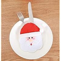 HuaQingPiJu-JP クリスマスクリエイティブ漫画カトラリーセットカトラリーバッグクリスマス装飾用品(ラウンドフェイスオールドマン)