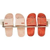 esdella壁マウントされた靴ラック、をドアのハンギング靴オーガナイザー、stainless-steel、ホワイト、6つサイズの選択 One layer(two pairs) ホワイト