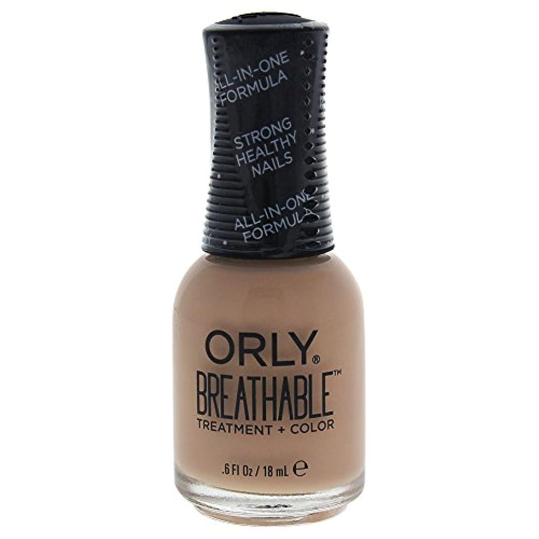 ポーン構造対処するOrly Breathable Treatment + Color Nail Lacquer - Manuka Me Crazy - 0.6oz / 18ml