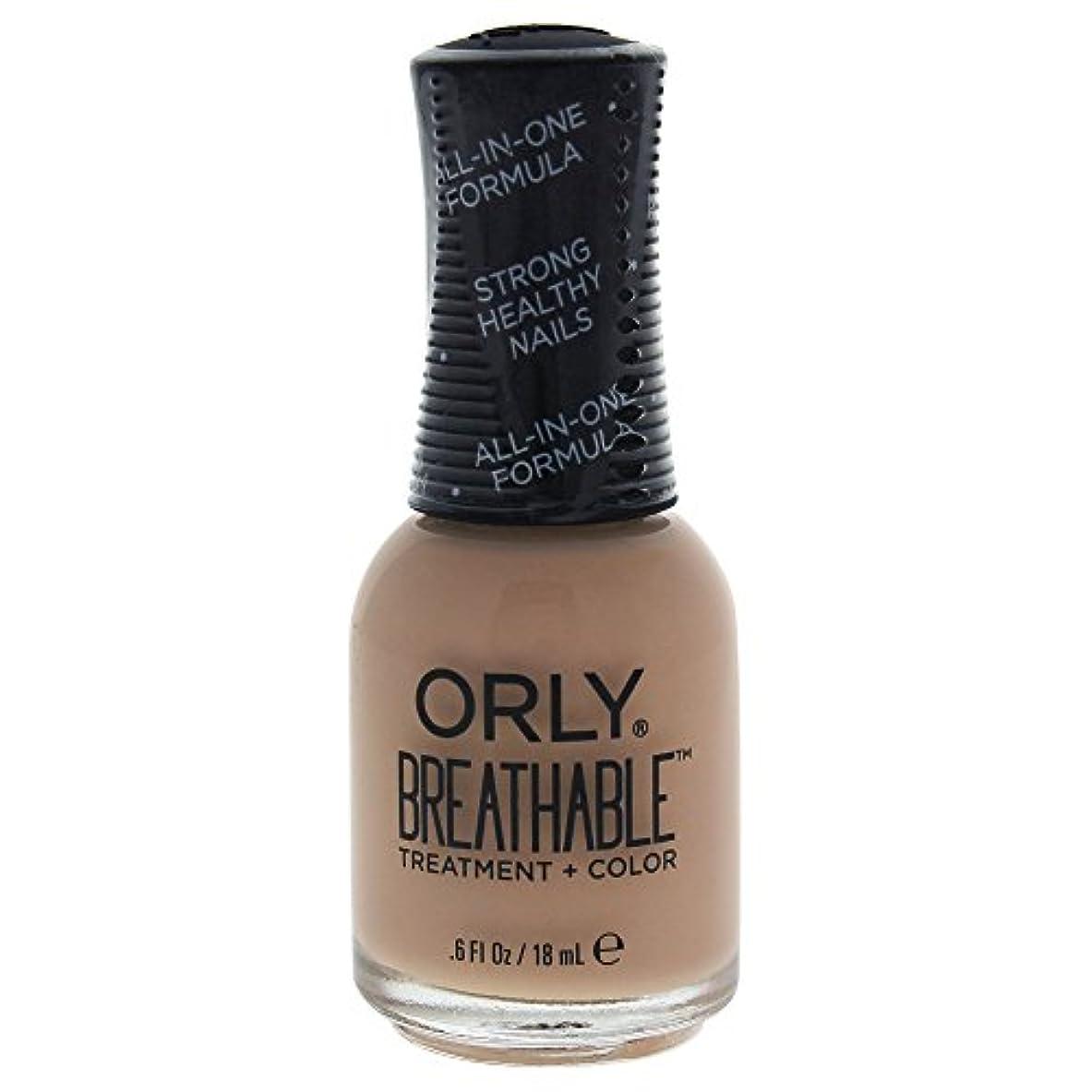 デッドロックれる痴漢Orly Breathable Treatment + Color Nail Lacquer - Manuka Me Crazy - 0.6oz / 18ml