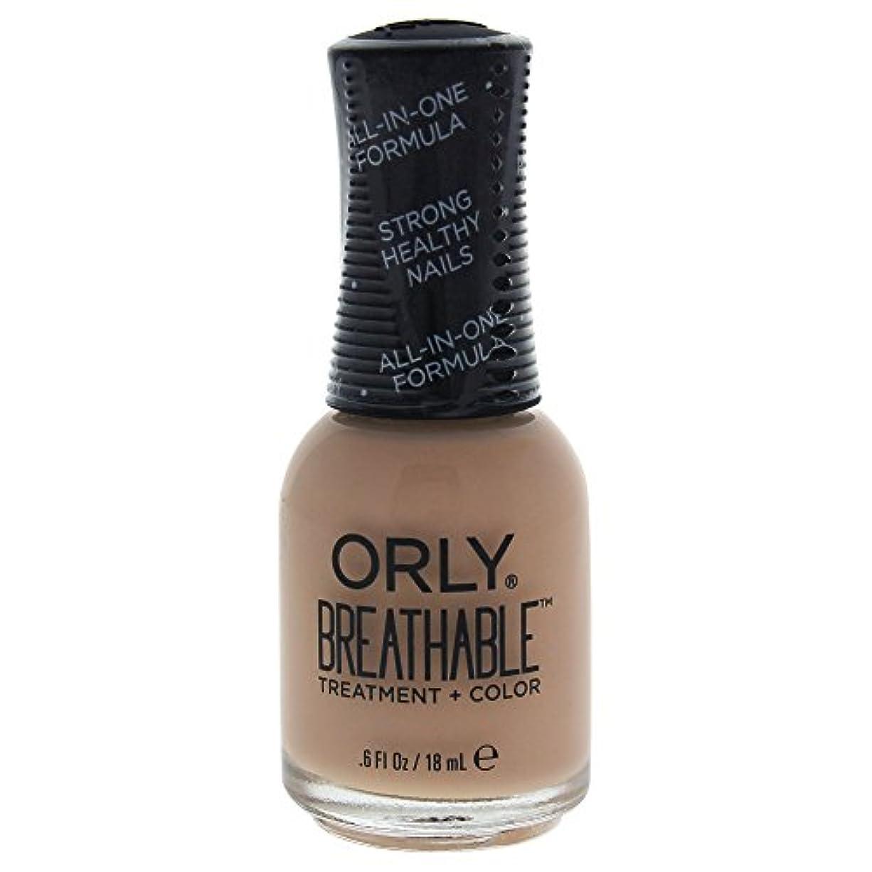 実施する持続的バスケットボールOrly Breathable Treatment + Color Nail Lacquer - Manuka Me Crazy - 0.6oz / 18ml
