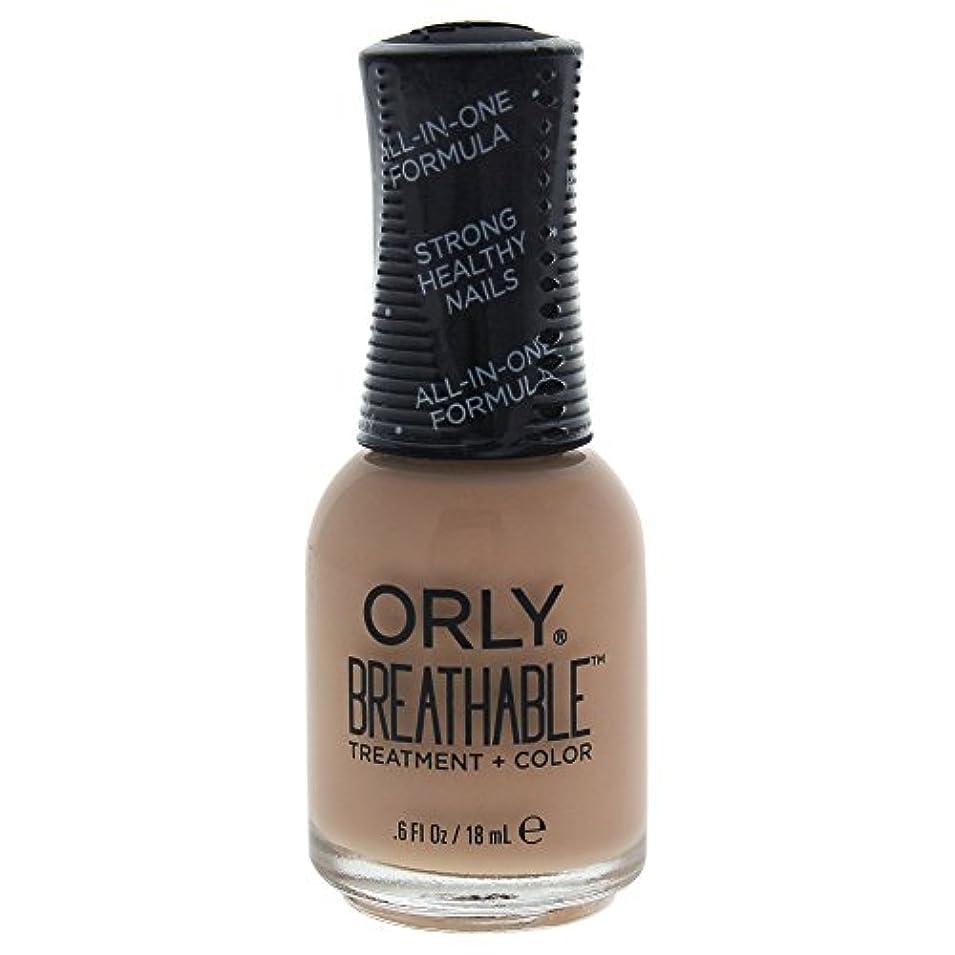 割る事実上読みやすいOrly Breathable Treatment + Color Nail Lacquer - Manuka Me Crazy - 0.6oz / 18ml