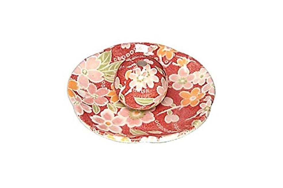 ホームレスナット分類都友禅 花形香皿 お香立て お香たて 陶器 美濃焼 ACSWEBSHOPオリジナル