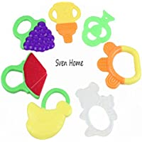 Sven Home Fruit Toys Sensory Teether Activity Toy Teethers 7 pcs Luxury Teething Toys for the Best Baby Teether Massage Soothe Molar Teeth by Sven Home