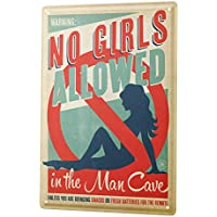 Tin Sign ブリキ看板 Nostalgic Plates No girls allowed in the Man Cave Metal Plate
