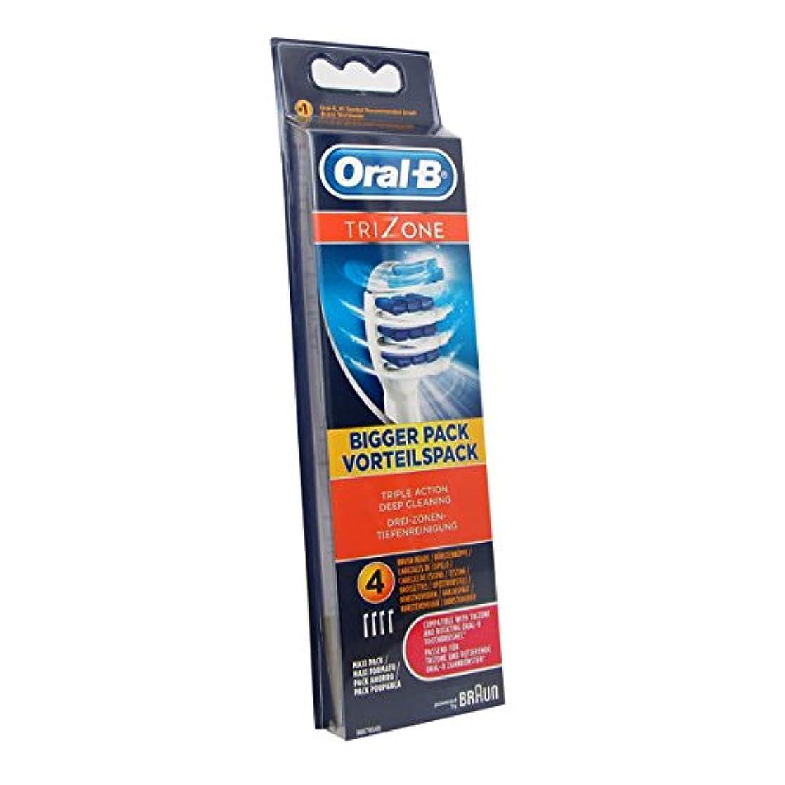 ありふれた金属護衛Oral B Trizone Replacement Brush X4 [並行輸入品]