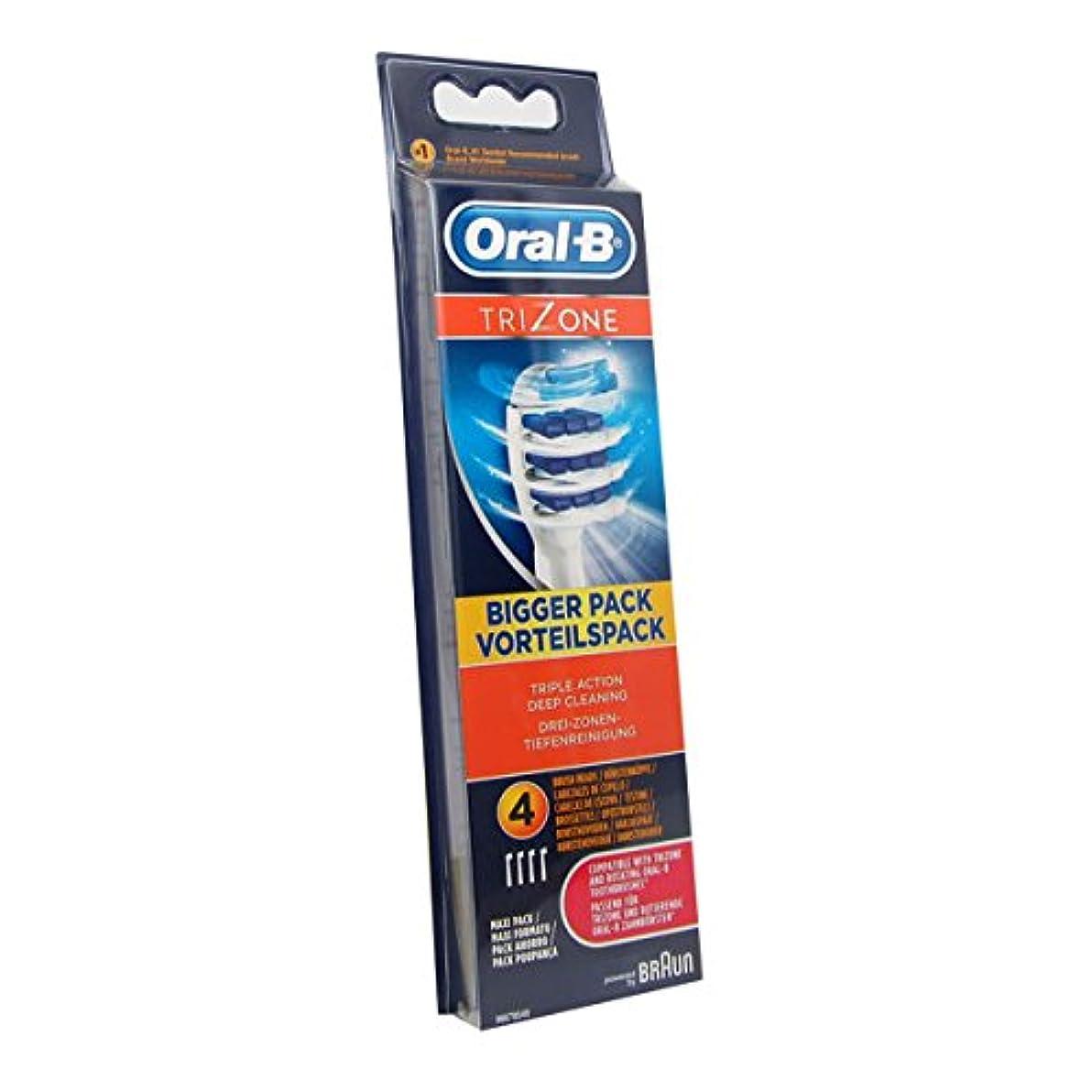 お勧め位置するドロップOral B Trizone Replacement Brush X4 [並行輸入品]