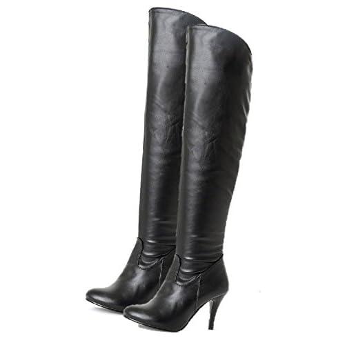 (シャンディニー) Chandeny 美脚 ファスナー 付 2way ロング ブーツ 28.0cm