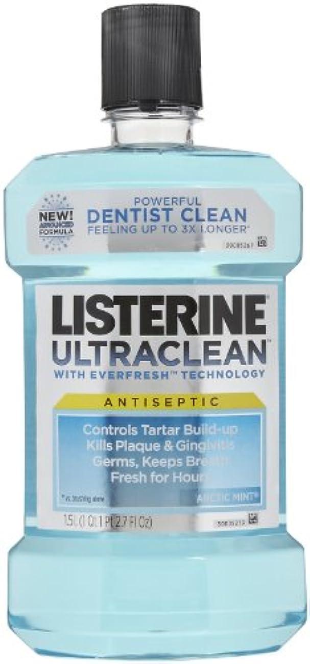 代わりにを立てる実験をする永遠のListerine UltraClean Mouthwash, 1.5 Liters, Arctic Mint, 50.72 oz, 2 pk by Listerine