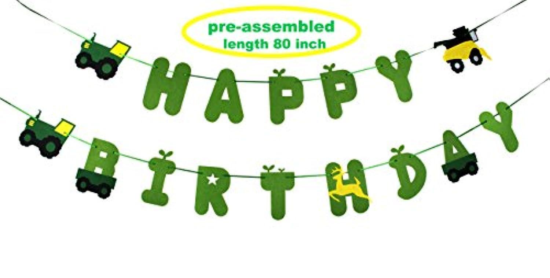 グリーンTractor Happy誕生日バナー