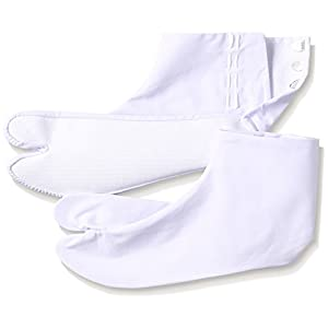 (フクスケ タビ) fukuske tabi ストレッチ綿 足袋 4枚こはぜ 型:並 サラシ 3150-000 ZZZ 白 23.5cm