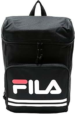 (フィラ)FILA スクエアリュック ロゴプリント ブラック