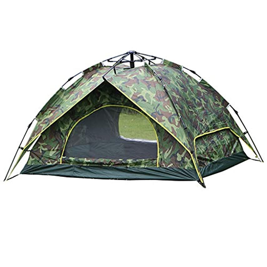 放送新着ベッドを作るキャンプテント2人、簡単防水軽量インスタント自動ポップアップテント、ビーチファミリー屋外ガーデン釣りピクニック、二重層