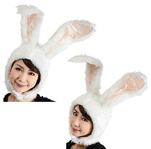 もふもふうさたん ホワイト もふもふウサギのかわいいかぶりもの♪【 うさ耳 うさぎ ウサギ ウサ耳 カチューシャ バニーガール コスプレ 仮装 パーティー】【パーティーグッズ コスプレ コスチューム】
