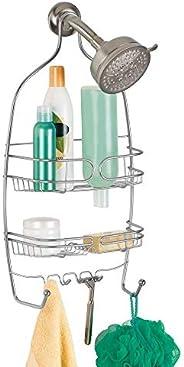 InterDesign iDesign Hanging Shower Caddy, Storage Shelves, Silver