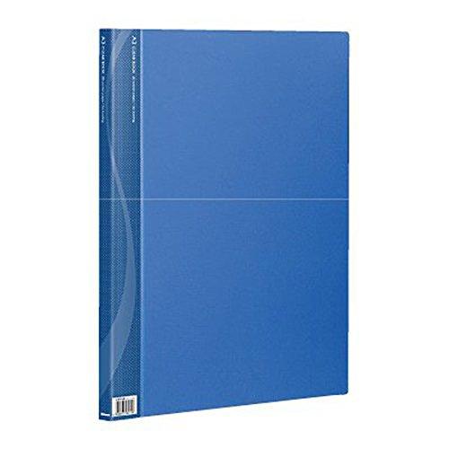ナカバヤシ A3クリアブック 20ポケット ベーシックカラー ブルー CB1012B-N