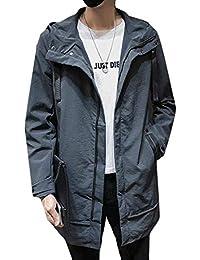 chenshiba-JP メンズカジュアル軽量フーディースウェットシャツジャケットトレンチコート