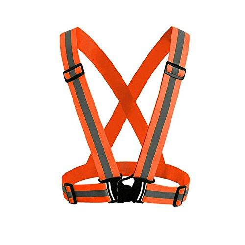 [해외]Minidiva 야간 안전 반사 조끼 조깅 산책 자전거 야간 작업 4CM 크기 조절 남녀 겸용/Minidiva night safety reflex vest jogging walk bicycle night work 4 CM size adjustment unisex unisex