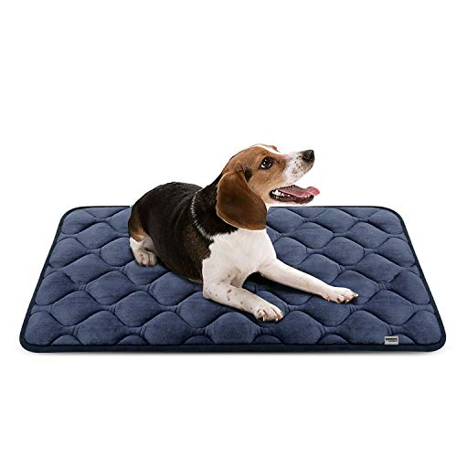 Hero Dog ペットマット 犬 ペットベッド クッション 犬ケージ用敷物 滑り止め 洗える 肌触りよい 4カラー6サイズ(グレー M)